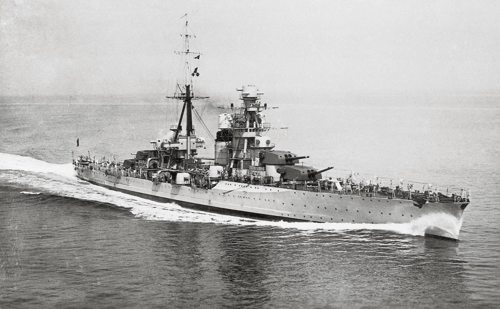 L'incrociatore Fiume, anno 1931